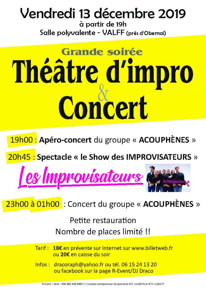 Le show des improvisateurs et concert @ Salle polyvalente 67210 Valff